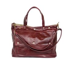 Archive Bag in Cranberry Red Leather  Made to by jennyndesign, $285.00