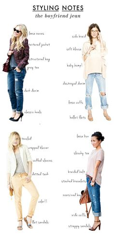 So many ideas here...20 Style Tips On How To Wear Boyfriend Jeans