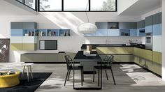 The Scavolini Kitchen Collection Kitchen Furniture, Kitchen Interior, Scavolini Kitchens, Living Area, Living Room, Kitchen Collection, Cuisines Design, Luxury Kitchens, House Design