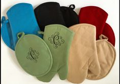 A personal favorite from my Etsy shop https://www.etsy.com/listing/267793602/oven-mitt-monogrammed-pot-holders