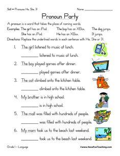 Pronoun Worksheet for Kindergarten Free. 30 Pronoun Worksheet for Kindergarten Free. Pronoun Worksheets, Social Studies Worksheets, English Grammar Worksheets, 2nd Grade Worksheets, Free Printable Worksheets, English Pronouns, Kindergarten Addition Worksheets, Preschool Worksheets, Pronoun Examples