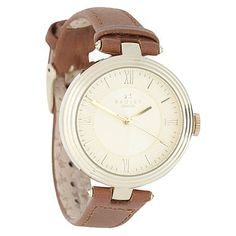 Women's brown champagne dial leather strap watch - Strap - Watches - Women -