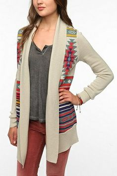 Urban Outfitters Clothing | Urban Outfitters - Ecote Intarsia Cardigan | clothing
