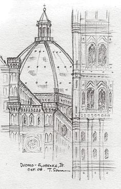 drawing of florence cathedral - Google Search
