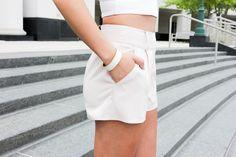 Averie Nicole Blog | Crop Top | Blush Shorts | Express | Jessica Simpson | Lulu's | www.averienicole.com
