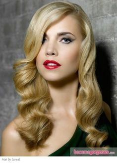 Long Vintage Curls Hair Style Hairstyles Pictures Design 390x542 Pixel