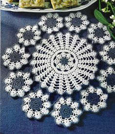 napperon aux fleurs bleues Tichenor Coats, love this!Three pretty doilies to crochet! Circular doily motif: Circle around circles motif: Oval doily motif: More Patterns Like This!Crochet and arts: Beautiful DoiliesPage 1 of 2 * Bright flowersplacemat Art Au Crochet, Thread Crochet, Love Crochet, Irish Crochet, Beautiful Crochet, Knit Crochet, Free Crochet Doily Patterns, Crochet Doilies, Crochet Flowers