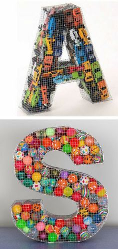 mommo design: WIRE DECOR - Letters j- another idea for our vast collection of bouncy balls! cute idea for kids room or play room! Diy And Crafts, Crafts For Kids, Arts And Crafts, Deco Kids, Kid Spaces, Looks Cool, Signage, Craft Projects, Kids Room