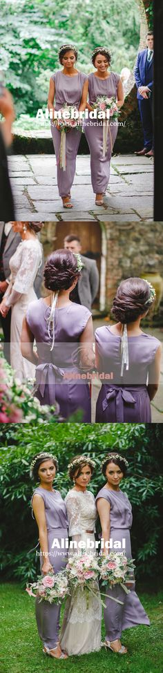 New Arrival 2018 Simple Dusty Purple Chiffon Summer Wedding Bridesmaid Dresses. AB1194