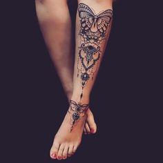 tattoo//tattoos//tattoos for women//tattoo ideas//tattoo designs//tattoos for wo. - tattoo//tattoos//tattoos for women//tattoo ideas//tattoo designs//tattoos for women small//tattoos - Sleeve Tattoos For Women, Tattoos For Women Small, Small Tattoos, Calf Tattoo Women, Ankle Tattoos For Women Mandala, Calf Tattoos For Women Back Of, Calf Sleeve Tattoo, Leg Tattoo Girls, Hand Tattoos Girl