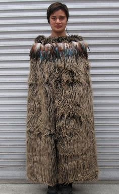 Korowai Maori Cloak for sale - full length Adult . Maori Patterns, Polynesian People, Flax Weaving, Feather Cape, I Dont Fit In, Maori People, Maori Designs, Fur Cape, Maori Art