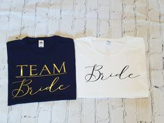 Team bride & bride matching t-shirts perfect for the hen party! If you would like another personalised message please do ask, we are happy to cater Scrabble Frame, Name Place Cards, Wedding Name, Team Bride, My Etsy Shop, Handmade Items, Graphic Sweatshirt, Colours, T Shirts For Women