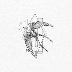 Cute Tattoos On Ribs Tatoo Bird Tattoo Ribs, Swallow Bird Tattoos, Swallow Tattoo Design, 3 Birds Tattoo, Finch Tattoo, Simple Bird Tattoo, Bird Tattoo Back, Trendy Tattoos, Cute Tattoos