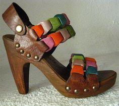 Platform Clog Shoe Bright Suede Joni Link Handmade by karenkell - http://wanelo.com/p/242231/platform-clog-shoe-bright-suede-joni-link-handmade-by-karenkell