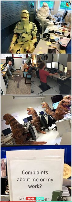 10+ Hilarious Office Photos Where Employees Have Awesome Sense of Humour #funny #office #officelife #boredatwork