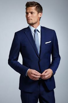 navy tux with light blue tie - Google Search