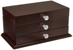 Kendal Wooden Jewelry Box (11.5'L x 6.5'W x 5.4'H) WJC-06DC ** Tried it! Love it! Click the image. (This is an amazon affiliate link. I may earn commission from it)