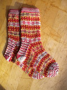 Ravelry: Fair Isle Stash Socks pattern by Susi Ferguson free