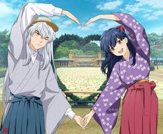 Image about anime in Inuyasha by Inuyasha Fan Art, Inuyasha And Sesshomaru, Kagome And Inuyasha, Kagome Higurashi, Miroku, Fanarts Anime, Manga Anime, Anime Art, Toon Cartoon