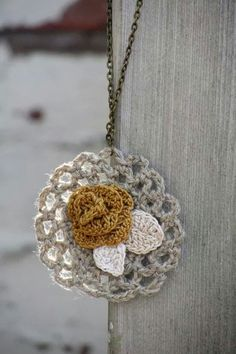 Watch The Video Splendid Crochet a Puff Flower Ideas. Phenomenal Crochet a Puff Flower Ideas. Crochet Puff Flower, Crochet Flower Patterns, Love Crochet, Crochet Motif, Crochet Flowers, Textile Jewelry, Fabric Jewelry, Jewelry Art, Crochet Ornaments