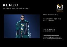 KENZO FALL-WINTER 16'17 WOMEN READY-TO-WEAR available for a PRE ORDER at Myriam Volterra Luxury Buying Office! We offer you the best selection of luxury brands!