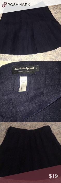 American apparel navy tennis skirt. Navy blue tennis skirt from American apparel. New, never worn. American Apparel Skirts Mini
