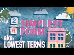 Simplest Form Song: Simplifying Fractions To Lowest Terms 4th Grade Fractions, Fifth Grade Math, Equivalent Fractions, Fourth Grade, Simplest Form Fractions, Simplifying Fractions, Math Genius, Math Notes, Math Intervention