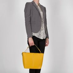 Geanta din piele naturala Exene Suit Jacket, Tote Bag, Suits, Casual, Jackets, Bags, Fashion, Down Jackets, Handbags