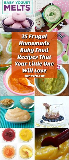 25 frugal homemade baby food recipes that your little one will love diy crafts