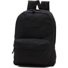 Vans Realm Backpack (61 BGN) ❤ liked on Polyvore featuring bags, backpacks, black, knapsack bag, backpack bags, vans bag, day pack backpack and rucksack bags