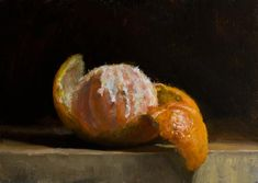 Daily paintings | Peeled clementine | Postcard from Provence