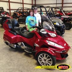 Thanks to Barb Ensminger and Michael Walker from Pensacola FL for getting a 2016 Can Am Spyder RT Limited. @HattiesburgCycles
