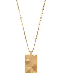 In 'n' Out Necklace in Brushed Gold