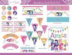 My Little Pony Equestria Girls Theme Birthday by CiciandBobos, $29.99