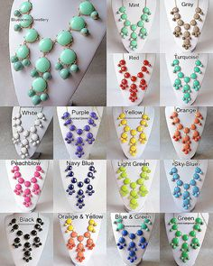 FOr Lauren - I would take any or ALL of these!!! Super cheap versions of the J. Crew Bubble necklace.