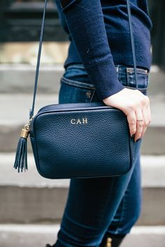 GiGi New York I College Prepster Blog I Madison Navy Crossbody