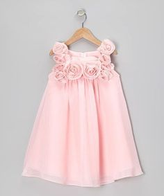 Pink Rosette Dress - Infant, Toddler & Girls by Sophia Young Toddler Dress, Toddler Outfits, Baby Dress, Kids Outfits, Infant Toddler, Toddler Girls, Infant Girls, Dress Girl, Baby Girls