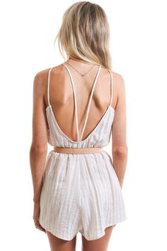 05bded401d WHITE STRIPED OPEN-BACK ROMPER  ustrendy www.ustrendy.com