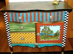 Hand Painted Furniture Ideas | painted entry cabinet custom painted cabinet price $ 750 00