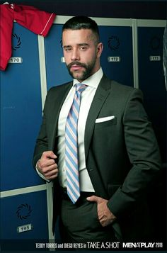 Gallery of erotic images: Teddy Torres Hairy Men, Bearded Men, Costume Sexy, Smiling Man, Suit And Tie, Well Dressed Men, Perfect Man, Mens Suits, Hot Guys