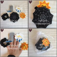 A personal favorite from my Etsy shop https://www.etsy.com/listing/513864929/itsy-bitsy-spider-finger-puppet-set-5pcs