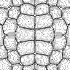 Fondo de concha de tortuga o patrón. Ilustración de vector