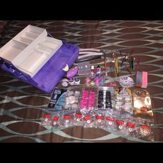 Acrylic Nail Kit Includes everything you see in picture all items fit inside box. Makeup Brushes & Tools