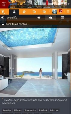 Beautiful clean archtectute with pool on theroof and around amazing sea :: #swimmingpool #swimming #ontheroof #roof #roofpool #cleandesign #white #woman #nicelook #amazing #niceview #sea #bluesea  https://x-uniting.com/profile/129028/galleries/details/10339