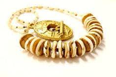 Handmade Shell Necklace Napalese Tribal Conch by BohemianWhimSea, $42.00