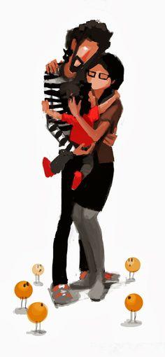 Abrazo de tres / Embrace three