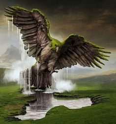 Igor Morski (b1960, Poznań Poland)...eagle rising from the ground...