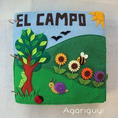 """QUIETBOOK : """"EL CAMPO""""  LIBRO DE FIELTRO PARA NIÑOS"""