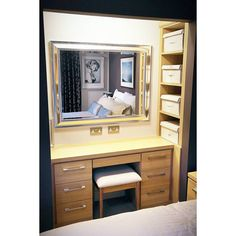 On instagram by patiencedesigns  #homedesign #metsuke (o)  http://ift.tt/1JMnnBM  Getting ready for a big celebration? Here's a dressing table area we completed for a bedroom in Highbury this year. Stress free preperation for your night! Happy New Year!  #dressingtable #dressingroom #makeup #newyear #2016 #party #mirror #bedroom  Booking projects for early in 2016  please email on info@patiencedesigns.co.uk   #interiordesign #interior #custom #bespokeinteriors  #london #bespoke #design…