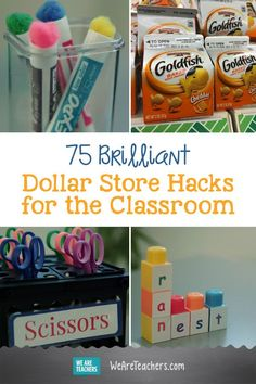 75 Brilliant Dollar Store Hacks for the Classroom. What is better than organizing your classroom while doing it on a budget? The dollar store has great ways for you to save on classroom supplies. Check out some of our favorite… Continue Reading → Dollar Store Hacks, Dollar Stores, Diy Organizer, Teacher Organization, Teacher Hacks, Organizing, Organization Ideas, Classroom Hacks, Preschool Classroom